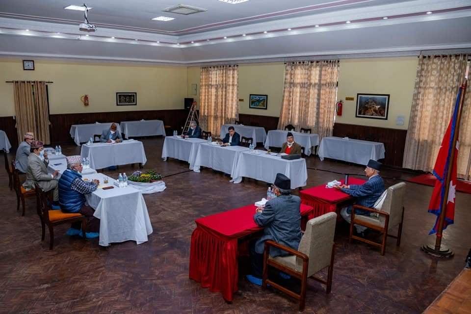 स्थायी कमिटि बैठकको एजेण्डा तय गर्दे नेकपा