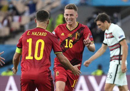 पोर्चुगललाई हराउँदै बेल्जियम युरोकप फुटबलको क्वार्टरफाइनलमा