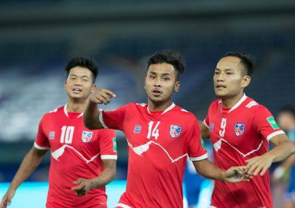 नेपाली फुटबल टोली स्वदेश फर्किदै