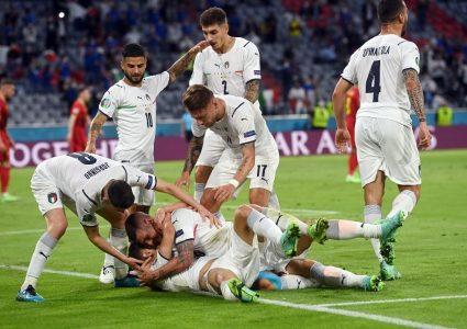 बेल्जियमलाई हराउँदै इटाली प्रवेश गर्यो सेमिफाइनलमा
